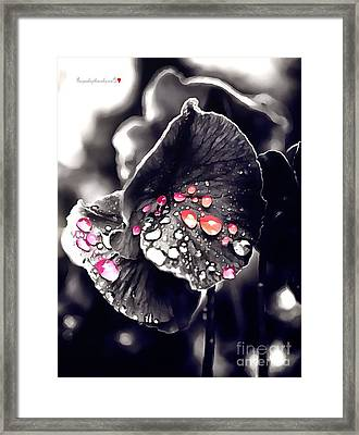 Drops Of Jupiter In Thick Paint Framed Print by Catherine Lott