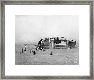 Drought: Dust Storm, 1936 Framed Print by Granger