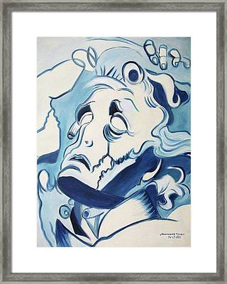 Drowning In Desparation Framed Print by Suzanne  Marie Leclair