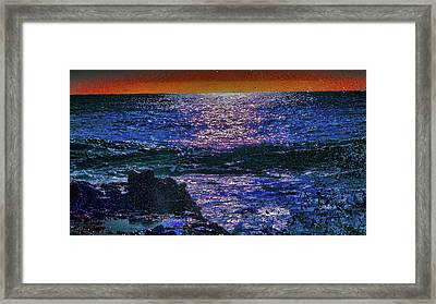Drowning In Fire Framed Print by Kenneth James