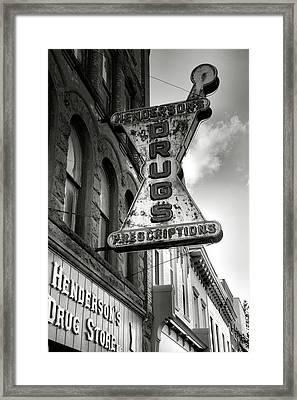 Drug Store Sign Framed Print by Steven Ainsworth