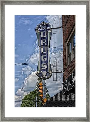 Drugstore - Wheeling West Virginia Framed Print by Mountain Dreams