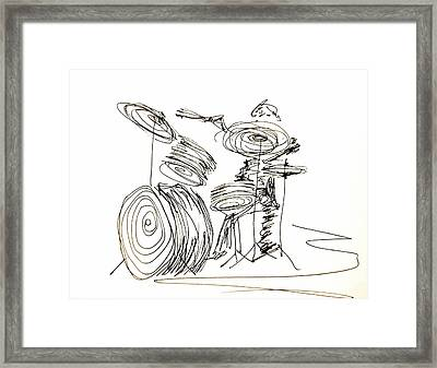 Drum Circles Framed Print by Pete Maier