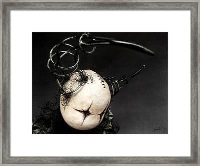 Drum Doll Looking Framed Print by Kalynn Kallweit