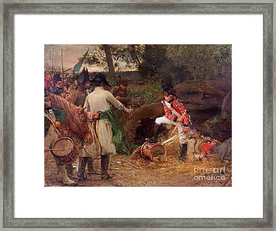 Drum Shall Never Be Beaten Framed Print by George William