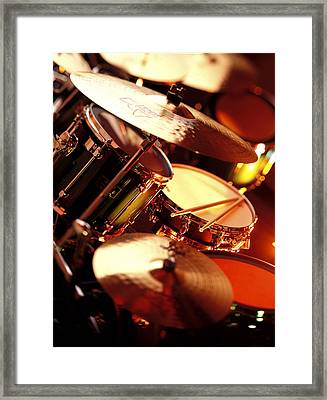 Drums Framed Print by Robert Ponzoni
