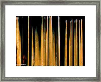 Drumstick Framed Print by Gerard Yates