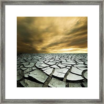 Dry Lowlands Framed Print by Zarija Pavikevik