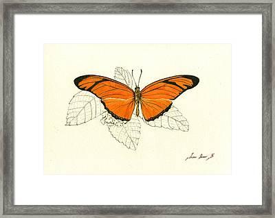 Dryas Iulia, Orange Julia Butterfly Framed Print by Juan Bosco
