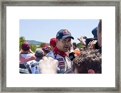 D.sordo 2 Minutes After The Finish Framed Print by Boyan Dimitrov