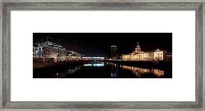 Dublin Quays By Night Framed Print by Joe Houghton