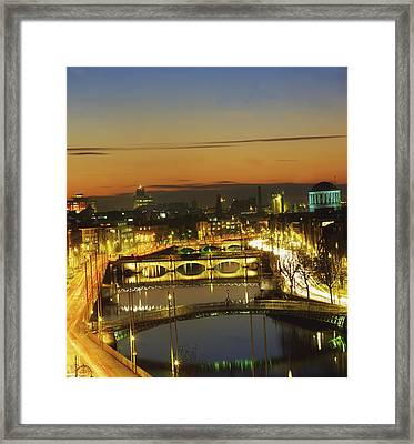 Dublin,co Dublin,irelandview Of The Framed Print by The Irish Image Collection