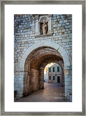 Dubrovnik Entrance Framed Print by Inge Johnsson