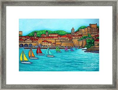 Dubrovnik Regatta Framed Print by Lisa  Lorenz