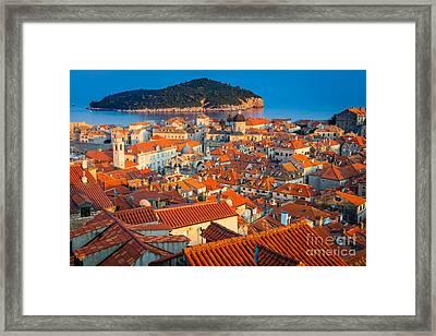 Dubrovnik Rooftops Framed Print by Inge Johnsson