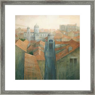 Dubrovnik Rooftops Framed Print by Steve Mitchell