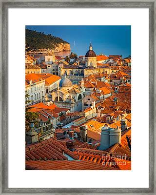 Dubrovnik Sunset Framed Print by Inge Johnsson