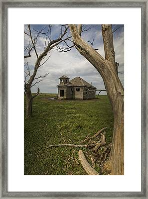 Dubuque One Room School House Framed Print by Chris Harris