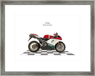 Ducati 1098s Tricolore Framed Print by Mark Rogan