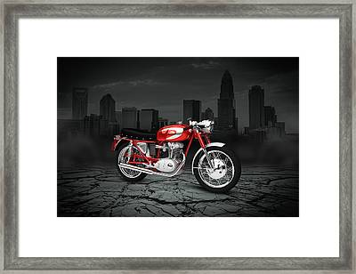 Ducati 250 Mach 1 1964 City Framed Print by Aged Pixel