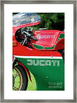 Ducati 900 Mike Hailwood Replica Framed Print by Tim Gainey