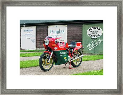 Ducati 900cc Mike Hailwood Replica Framed Print by Tim Gainey