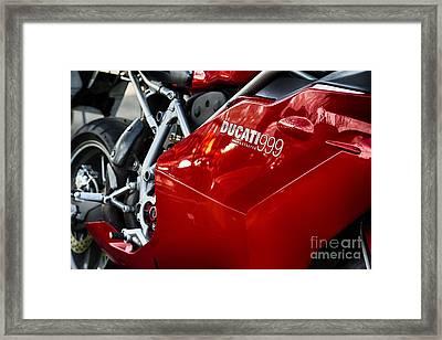 Ducati 999 Testastretta Framed Print by Tim Gainey