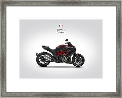 Ducati Diavel Carbon Framed Print by Mark Rogan