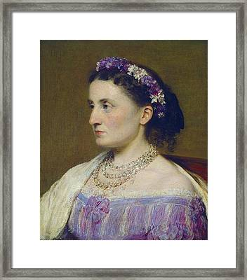 Duchess De Fitz-james Framed Print by Henri Fantin-latour