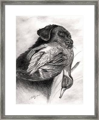 Duck Season Framed Print by Kathleen Kelly Thompson