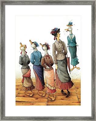 Ducks Dance Framed Print by Kestutis Kasparavicius