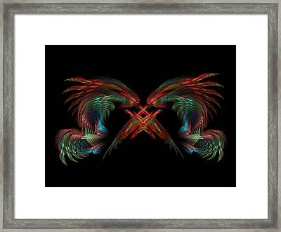Dueling Dragons Framed Print by Lyle Hatch