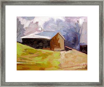 Duke And Diamonds Shed Framed Print by Charlie Spear
