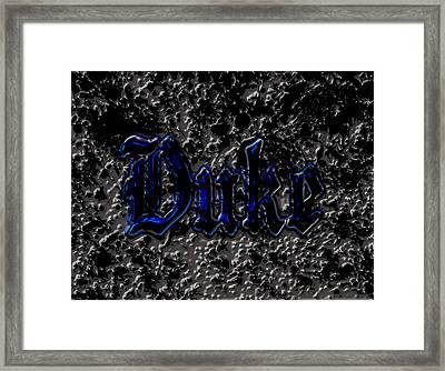 Duke Blue Devils 1d Framed Print by Brian Reaves