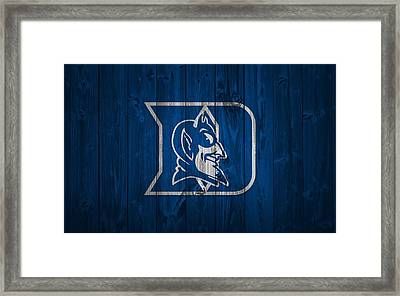 Duke Blue Devils Barn Door Framed Print by Dan Sproul