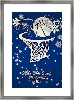 Duke Blue Devils Christmas Card 2 Framed Print by Joe Hamilton