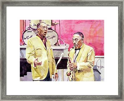 Duke Ellington And Johnny Hodges Framed Print by David Lloyd Glover
