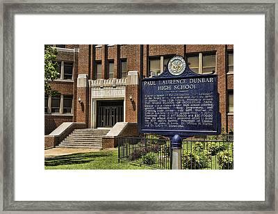 Dunbar High School - Little Rock Framed Print by Stephen Stookey