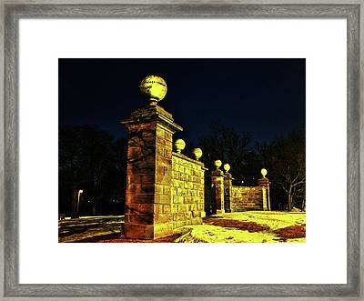 Dundurn Castle Entance Framed Print by Larry Simanzik