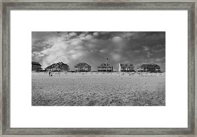 Dune Road Bw Framed Print by Laura Fasulo