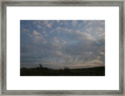Dunes And Clouds Framed Print by Christopher Kirby