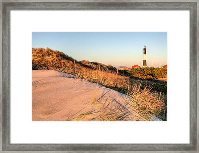 Dunes Of Fire Island Framed Print by JC Findley