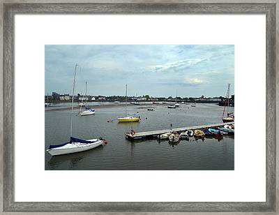 Dungarvan Harbour. Framed Print by Terence Davis