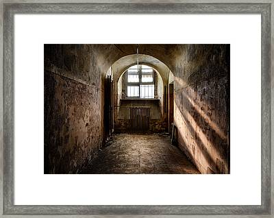 Dungeon With A View - Urban Exploration Framed Print by Dirk Ercken