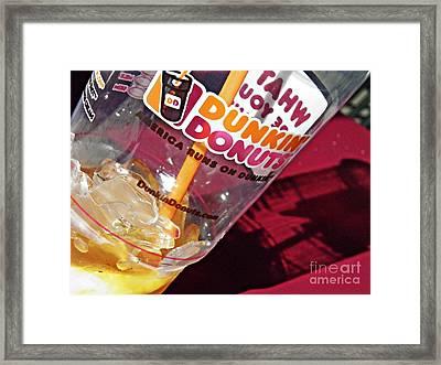 Dunkin Ice Coffee 29 Framed Print by Sarah Loft