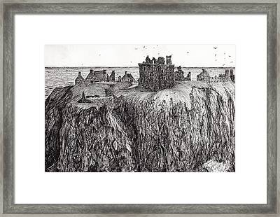 Dunottar Castle Framed Print by Vincent Alexander Booth