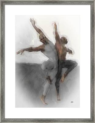 Duo Dancers Framed Print by Quim Abella
