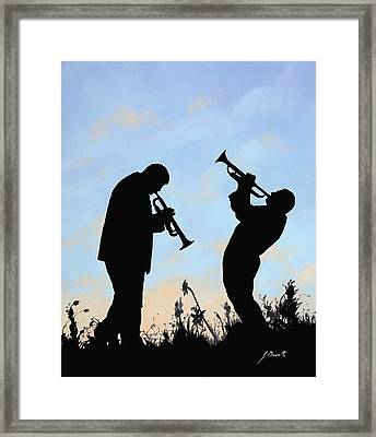 duo Framed Print by Guido Borelli