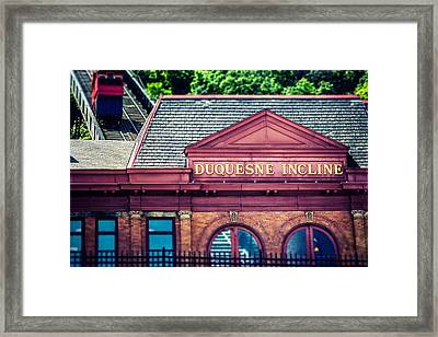 Duquesne Incline Of Pittsburgh Framed Print by Lisa Russo