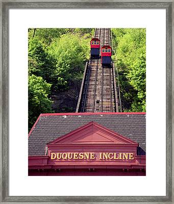 Duquesne Incline Framed Print by Tom Leach